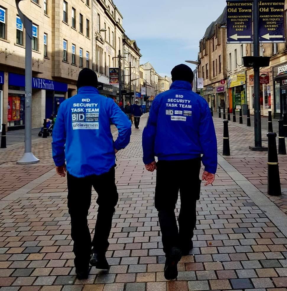 Summer Task Team on duty in the City Centre